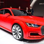 Audi TT Sportback concept front three quarters left at the 2014 Paris Motor Show