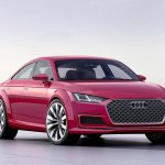 Audi TT Sportback concept front three quarters press shot