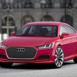 Audi TT Sportback concept front three quarters right press shot