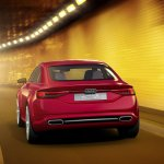 Audi TT Sportback concept rear press shot