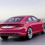 Audi TT Sportback concept rear three quarters press shot