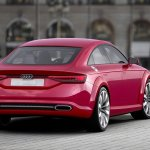 Audi TT Sportback concept rear three quarters right press shot