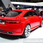 Audi TT Sportback concept rear three quarters view at the 2014 Paris Motor Show