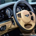 Bentley Mulsanne Speed steering at the 2014 Paris Motor Show