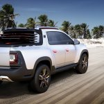 Renault Duster Oroch Concept rear quarter press shot