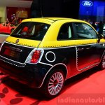 Fiat 500 Comics Edition rear three quarter at the 2014 Paris Motor Show