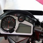 Hero Xtreme Sports instrument console at the 2014 Colombo Motor Show Sri Lanka