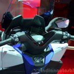 Honda Forza 125 steering column at the 2014 Paris Motor Show