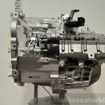 Hyundai 7-speed dual-clutch transmission side at the 2014 Paris Motor Show