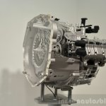 Hyundai 7-speed dual-clutch transmission three quarters at the 2014 Paris Motor Show
