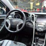 Hyundai i30 CNG centre console at the 2014 Paris Motor Show