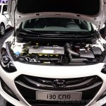 Hyundai i30 CNG engine bay at the 2014 Paris Motor Show