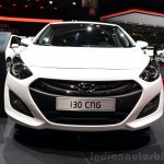 Hyundai i30 CNG front at the 2014 Paris Motor Show