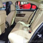 Jaguar XF special edition rear seat at the 2014 Paris Motor Show