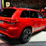 Jeep Grand Cherokee SRT Red Vapor rear three quarters right at the 2014 Paris Motor Show