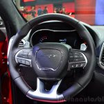 Jeep Grand Cherokee SRT Red Vapor steering wheel at the 2014 Paris Motor Show