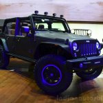 "Jeep Wrangler Unlimited Rubicon ""Stealth"" show car front three quarters at the 2014 Paris Motor Show"