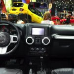 Jeep Wrangler Unlimited X dashboard at the Paris Motor Show 2014