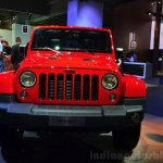 Jeep Wrangler Unlimited X front at the Paris Motor Show 2014