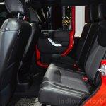 Jeep Wrangler Unlimited X rear seat at the Paris Motor Show 2014