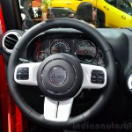 Jeep Wrangler Unlimited X steeting wheel at the Paris Motor Show 2014