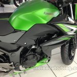 Kawasaki Z250 engine assembly from the India launch