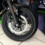 Kawasaki Z250 front disc brake from the India launch