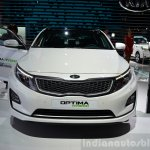 Kia Optima Mild Hybrid concept front at the 2014 Paris Motor Show