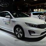 Kia Optima Mild Hybrid concept front three quarter at the 2014 Paris Motor Show