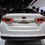 Kia Optima Mild Hybrid concept rear at the 2014 Paris Motor Show