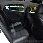 Kia Optima Mild Hybrid concept rear seat at the 2014 Paris Motor Show