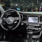 Kia Optima Mild Hybrid concept steering wheel at the 2014 Paris Motor Show