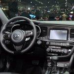 Kia Optima Mild Hybrid concept steering wheel at the 2014 Paris Motor Show