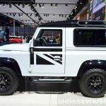 Land Rover Defender Black Pack side for France at the 2014 Paris Motor Show