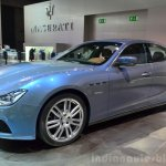 Maserati Ghibli Ermenegildo Zegna Edition front left three quarter at the 2014 Paris Motor Show