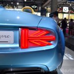 Mini Superleggera Vision Concep taillight t at the 2014 Paris Motor Show