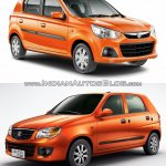 New Maruti Alto K10 vs older model front quarter