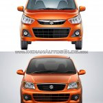 New Maruti Alto K10 vs older model front