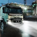 New Volvo FMX in motion