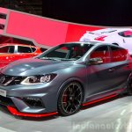 Nissan Pulsar NISMO Concept front three quarter at the 2014 Paris Motor Show