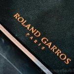 Peugeot 208 Roland Garros Edition floor mat at the 2014 Paris Motor Show