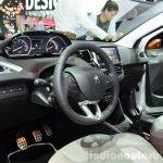 Peugeot 208 Roland Garros Edition interior at the 2014 Paris Motor Show