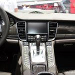 Porsche Panamera S E-Hybrid centre console at the 2014 Paris Motor Show