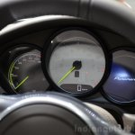 Porsche Panamera S E-Hybrid instrument console at the 2014 Paris Motor Show