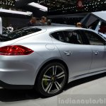 Porsche Panamera S E-Hybrid rear three quarter at the 2014 Paris Motor Show