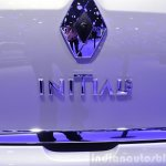 Renault Clio Initiale Paris badge at the 2014 Paris Motor Show
