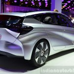 Renault EOLAB concept rear three quarter at the 2014 Paris Motor Show