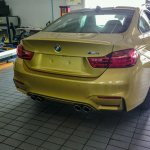 Spied in India BMW M4 rear