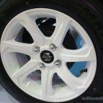 Suzuki Celerio Elegance edition wheel at the 2014 Colombo Motor Show Sri Lanka