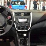 Suzuki Celerio center console at the 2014 Paris Motor Show